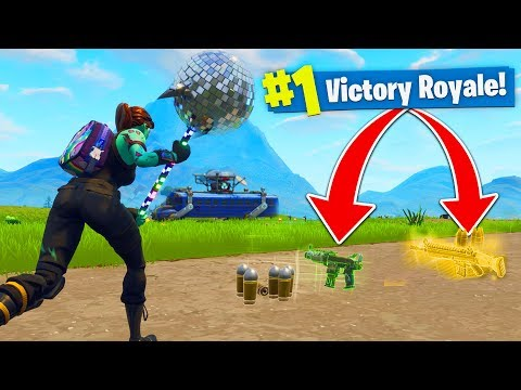 WINNING with ONLY SPAWN ISLAND GUNS in FORNITE BATTLE ROYALE