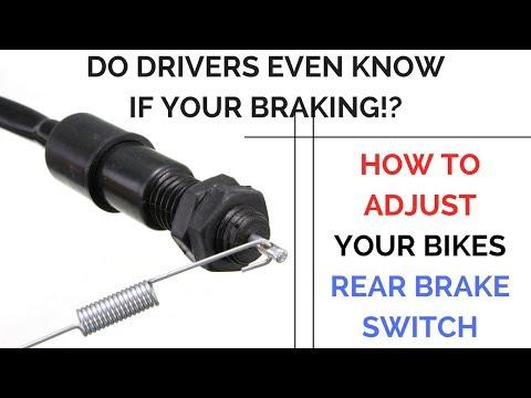 Motorcycle Brake Light Adjustment