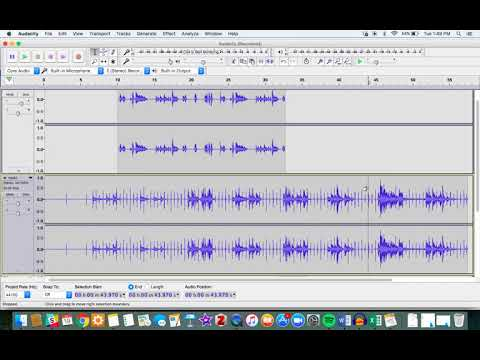 Splitting Clips and Crossfading in Audacity