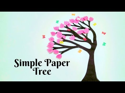 Easy Paper Tree   DIY Tree Branch   How to make a Tree from paper   Origami Tree
