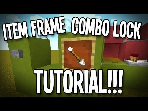 Minecraft Tutorial - Item Frame Combination Lock!!!