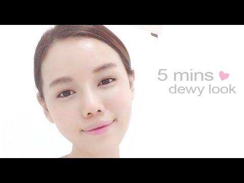 5mins easy makeup for dewy Korean look - QiuQiu