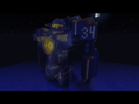 Minecraft Build review Gypsy Danger Pacific Rim