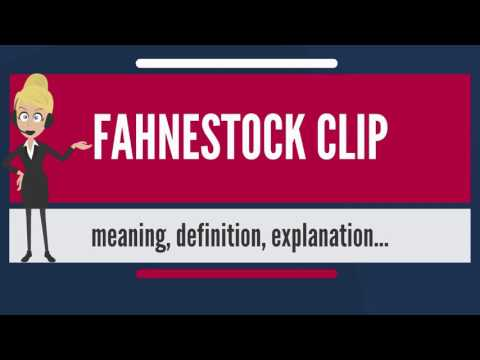 What is FAHNESTOCK CLIP? What does FAHNESTOCK CLIP mean? FAHNESTOCK CLIP meaning & explanation