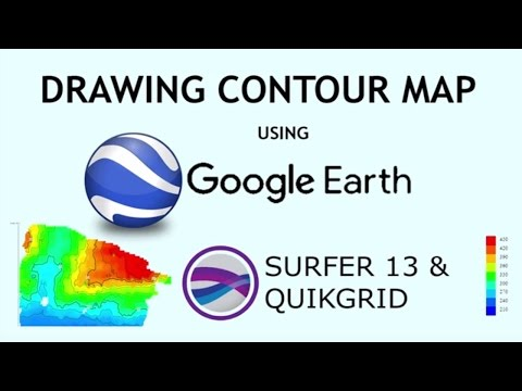 Drawing Contour Map from Google Earth using Surfer 13, Quikgrid