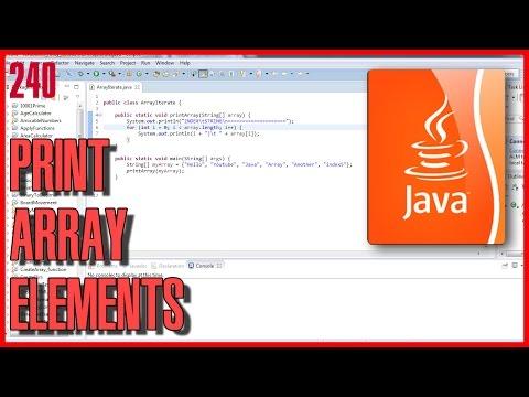 Java Basics - Function to print array elements
