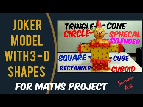 How to make a 🃏 joker model in 3d shape for maths project
