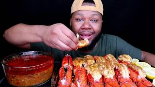 12 lobster tails Mukbang |  Yummy Bites Tv Don't Wipe your Mouth Challenge