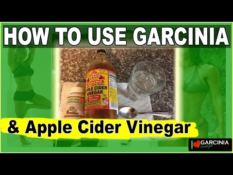 How To Use Garcinia Cambogia And ORGANIC Braggs Apple Cider Vinegar Drink Recipe For Weight Loss
