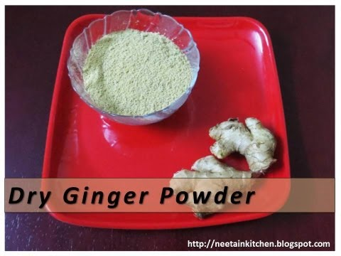 How to make Dry Ginger Powder with English subtitles