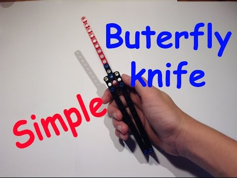 How to build a  lego butterfly knife