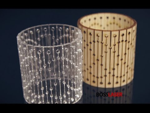 Laser Cut Bendable Wood & Acrylic - Living Hinge Bracelet - Boss Laser