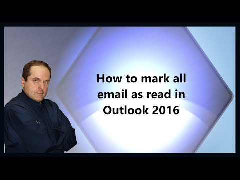 How to mark all email as read in Outlook 2016