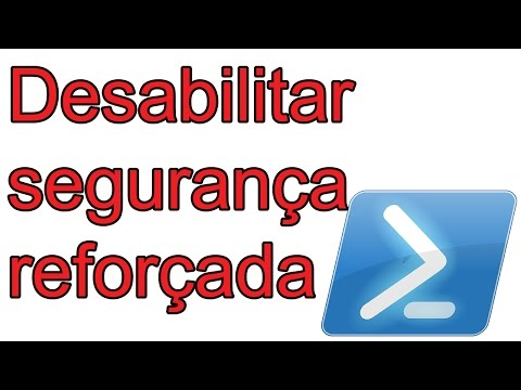 desabilitar segurança reforçada IE windows server 2012 via powershell