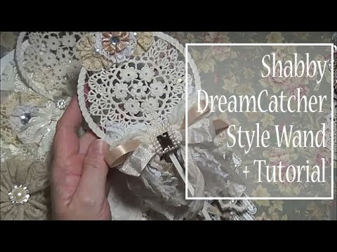 Dreamcatcher Style Wand Tutorial and Loaded Embroidery Hoop