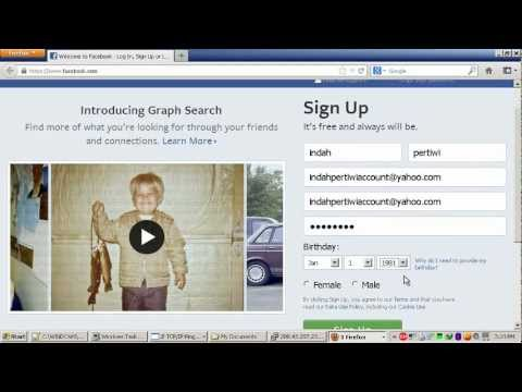How To Create / Register Facebook Account