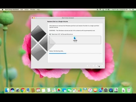 How to remove Windows and bootcamp partition on your Mac (Mac OS Sierra)
