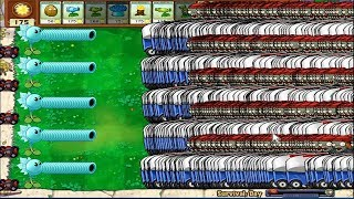 9999 Zomboni Zombie vs Snow Pea Hak Plants vs Zombies