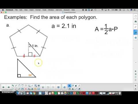 Area of Regular Polygons(using trig)