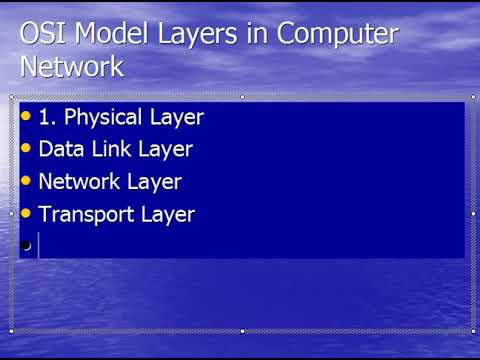 OSI Model Layers in Computer Network
