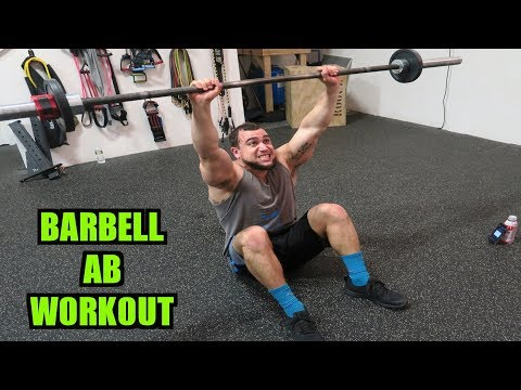 Intense 5 Minute Barbell Ab Workout