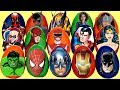 Lots Of Superhero Villains Play Doh Surprise Eggs With Spiderman Ironman Batman