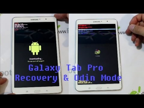 Samsung Galaxy Tab Pro Enter Stock Android Recovery & Odin Mode
