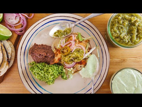 Rachael's Suiza-Style Chicken Soft Tacos with Salsa Verde