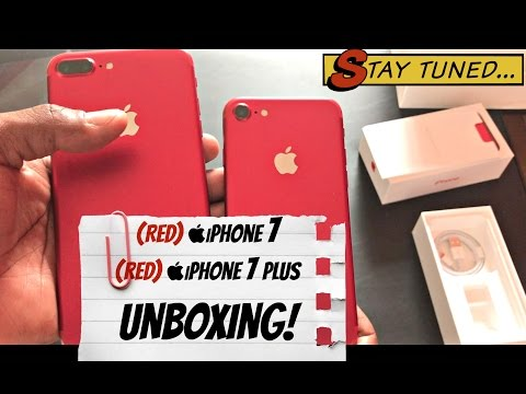  Red iPhone 7 Plus  &  Red iPhone 7 Unboxing + Tutorial for downloading Paid Apps for Free!