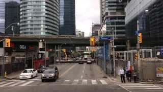 Drive through Downtown Toronto