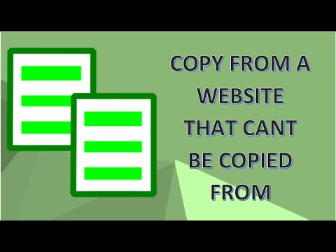 How To Copy Text And Images From A Protected Website