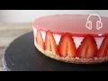 苺のレアチーズケーキのレシピ