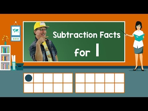 Practice Our Subtraction Facts for 1 | Subtraction Song | Math Song for Kids | Jack Hartmann