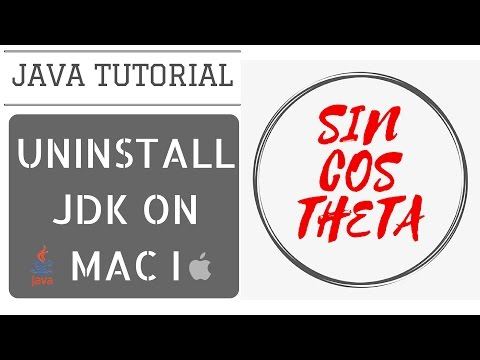 Java Beginners Tutorial - How to uninstall Previous JDK from Mac - Part I - Java Tutorial 3