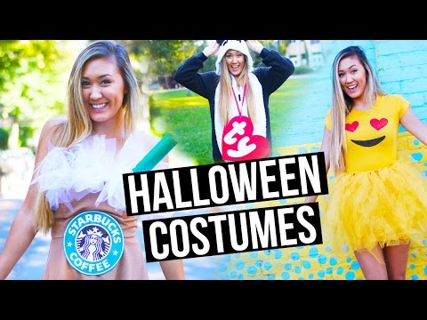 DIY HALLOWEEN COSTUMES FOR TEENS: Emoji, Starbucks + Beanie Baby