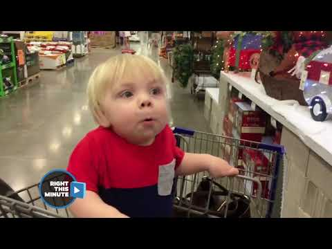 Baby Has The Best Reaction To Christmas Decorations