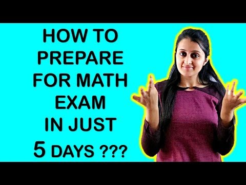 HOW TO PREPARE FOR MATHS EXAM IN JUST 5 DAYS? HOW TO COVER FULL SYLLABUS IN 5 DAYS? CBSE 2018