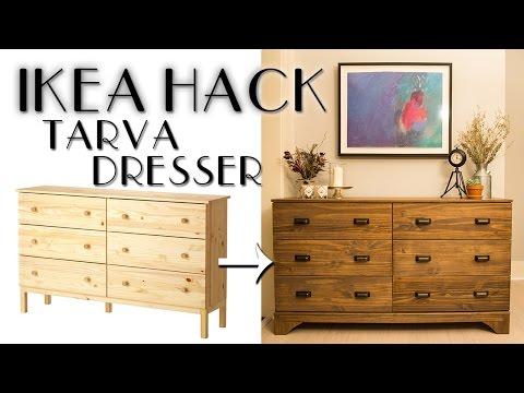 DIY IKEA Hack Tarva Dresser