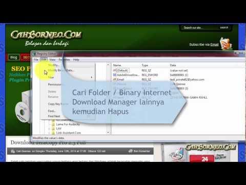 Cara remove (hapus) registry IDM