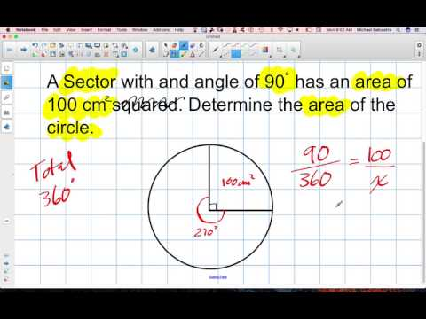 Working with Sectors and Area of Circles Grade 12 College Technology Lesson 8 3