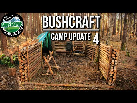 Bushcraft Camp Update 4 - Perimeter Walls Finished! | TA Outdoors