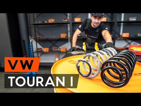 How to replace rear springs / coil springs onVW TOURAN 1 (1T3)[TUTORIAL AUTODOC]