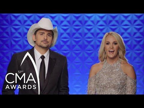 Brad Paisley and Carrie Underwood 10th Anniversary | CMA Awards 2017 | CMA