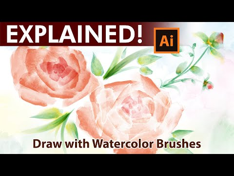 How to draw with Watercolor Brushes in Adobe Illustrator