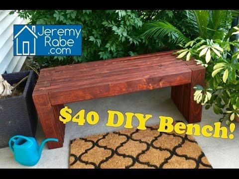 $40 DIY Bench