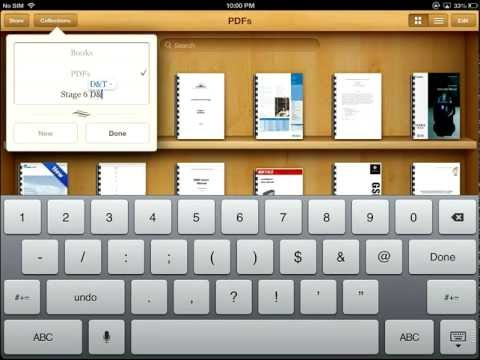 Storing PDFs in iBooks