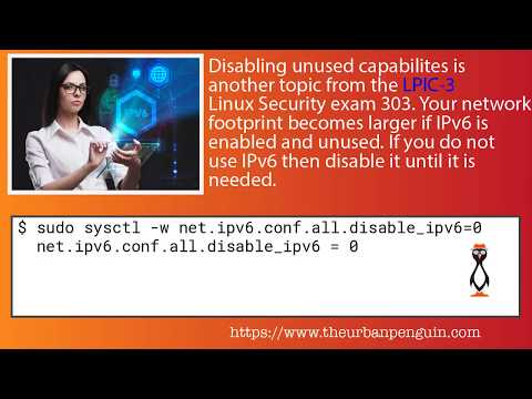 Linux Security Disable IPv6 LPIC-3 303