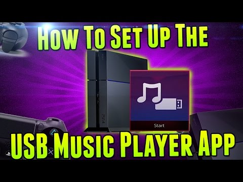PS4: How To Set Up and Use The USB Music Player App!!
