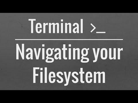 Linux/Mac Terminal Tutorial: Navigating your Filesystem
