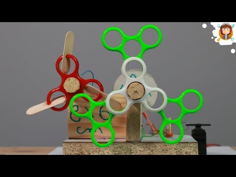How to Make a Bubble Machine with Fidget Spinners at Home